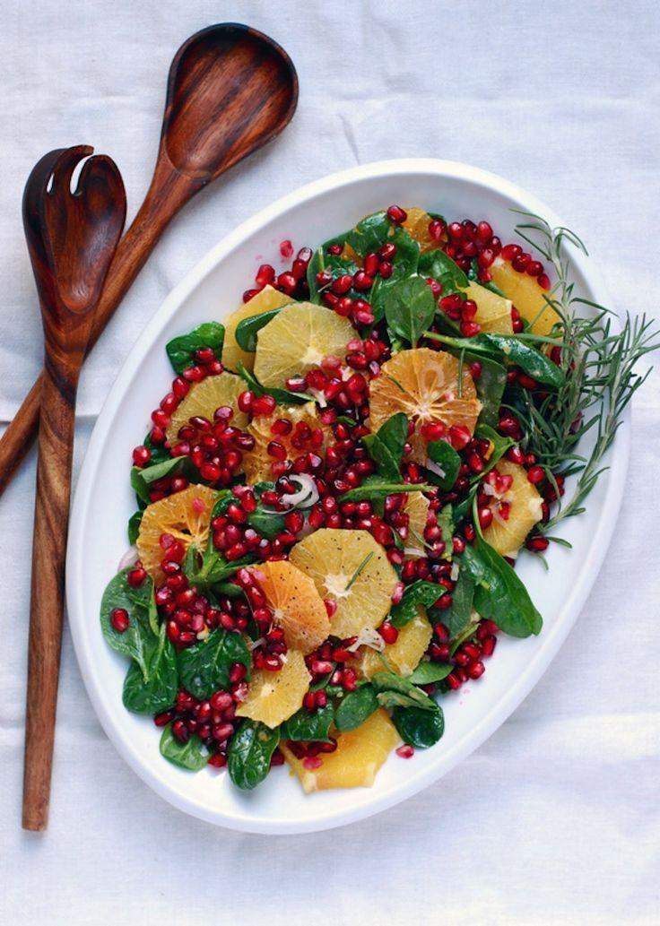 Christmas Recipe Roundup-orange pomegranate salad