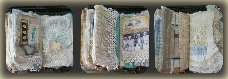 Fabric/Lace Pages book Sisters | YITTE  Flickr - Photo Sharing!