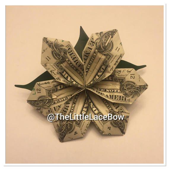 Graduation Money Satin Ribbon Lei-5x Flower w/ lea…
