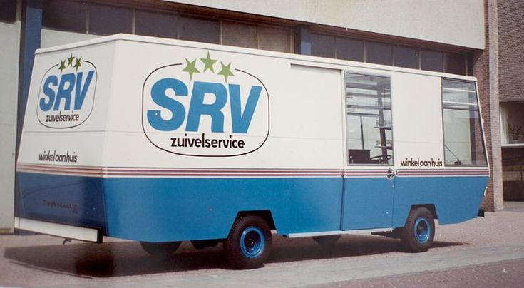 """""""SRV-wagen"""". Back in the old days, this grocery store on wheels came door to door to check if one needed any food supplies. #greetingsfromnl"""