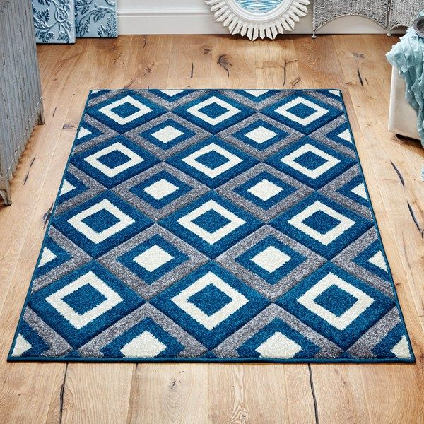 Viva rugs 9929 l in blue and grey buy online from the rug seller uk