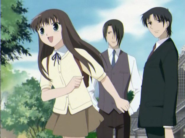 """Fruits Basket Buzzfeed: """"A young orphan girl comes to live with a family possessed by animals of the Chinese zodiac. Essentially, if she embraces them, they turn into the animal that possesses them. It's cute, funny, and expectedly heartfelt."""" Me: AND THEN IT GETS SLOWER DARKER AND DARKER AND THE MANGA IS PITCH BLACKNESS!!! But it's great."""
