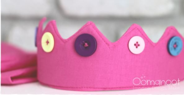 Tutorial: Little kids dress-up cape and crown