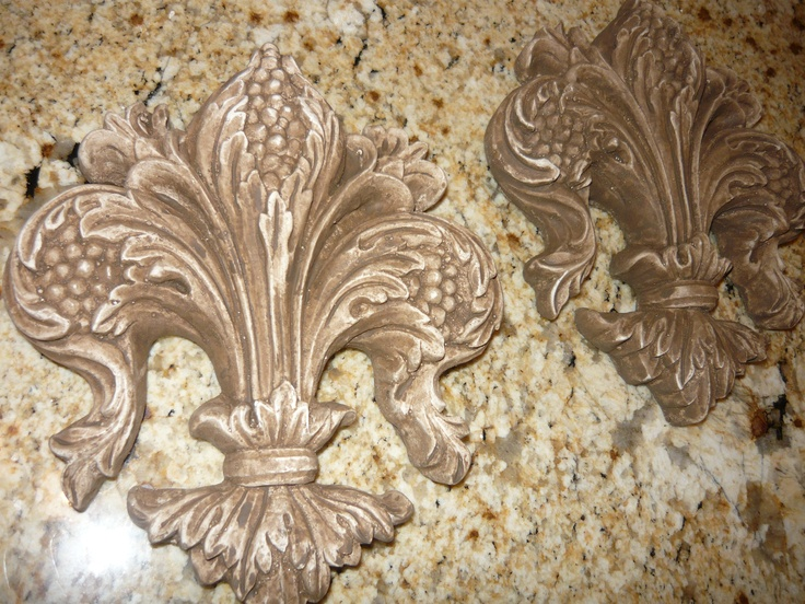 Fleur De Lis Wall Plaques. Hand Made. French Country, New Orleans, Old