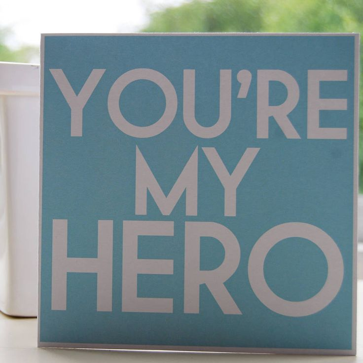 My Hero by My Love Lane: Great for a new Dad or for Fathers Day!  #Card #Hero