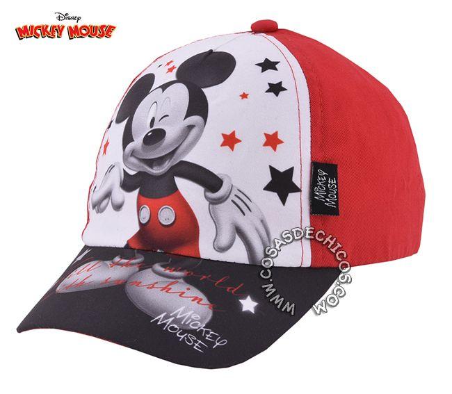 Gorro    Gorra con  Visera  Mickey  Mouse Licencia  Oficial  Disney Gorro  de  algodón  sublimado. Ajustable con velcro. Tal…  9e37eeebce9