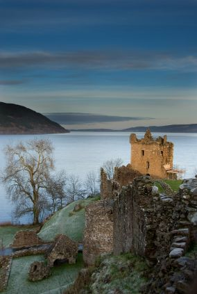 Loch Ness. Castle Urquart, Scotland.  Loch Ness is, of course, most famous as the home of Nessie the Loch Ness Monster. However it's also a natural wonder as one of four lochs (lakes) in the Great Glen region of Scotland that runs across the Scottish Highlands. With a massive surface area of over 20 square miles it's also incredibly deep and by volume is by far the largest.