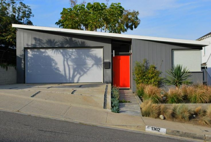 mcm house with orange door #mcm #midcenturymodern