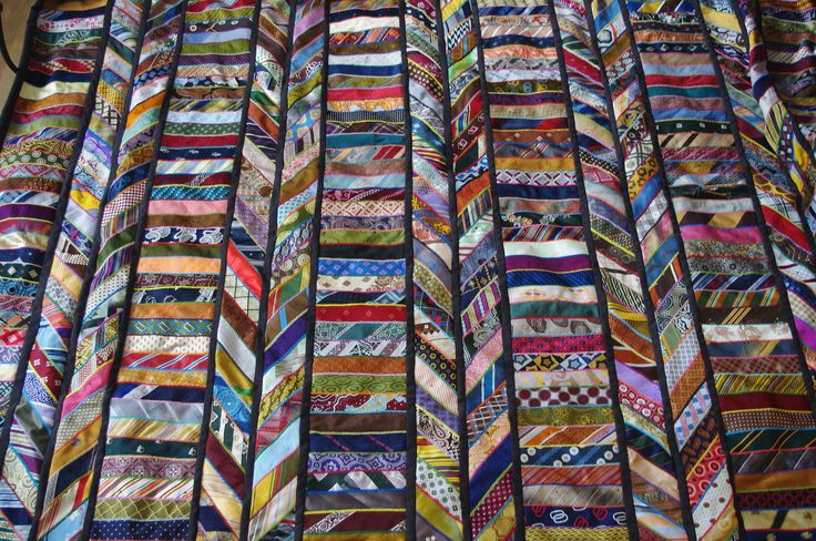 Tie quilt...and it doesn't present like it is made from neckties...very rich in color.  Nice visual.