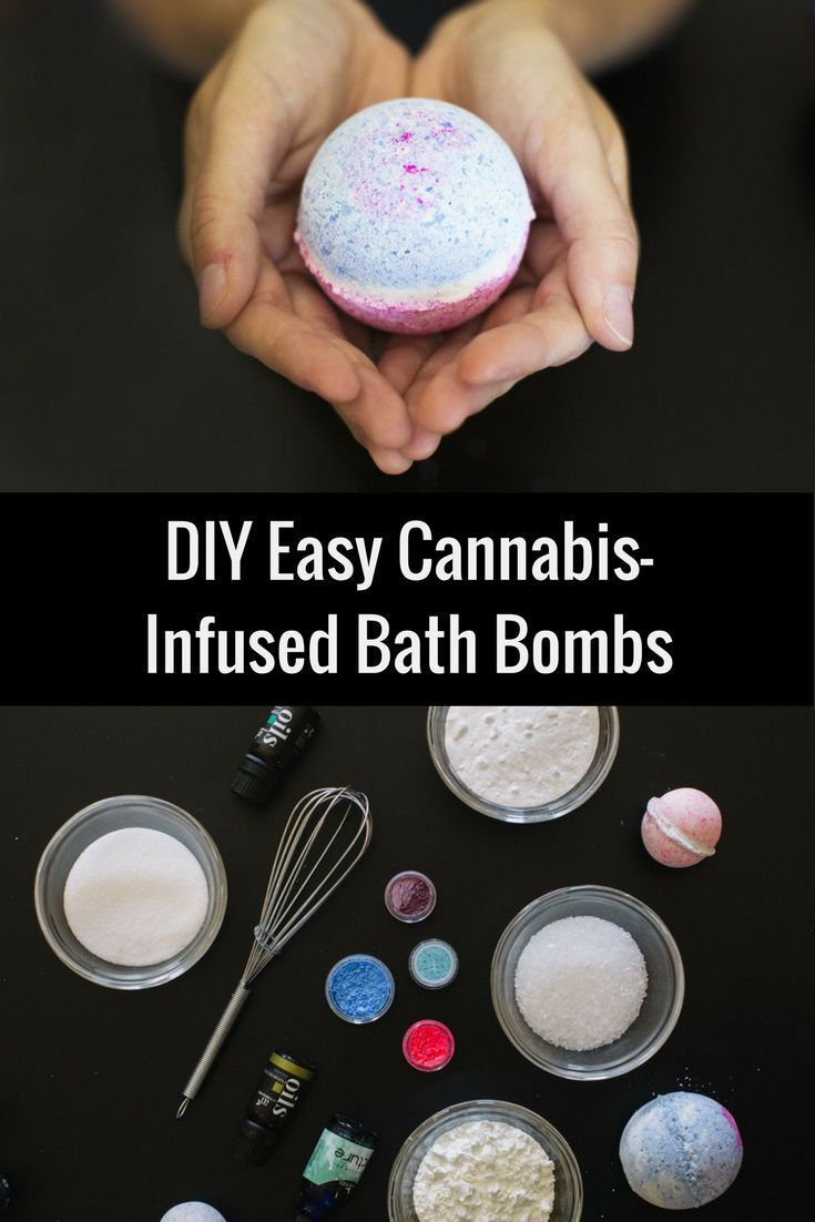 High Diy How To Make Easy Cannabis Infused Bath Bombs How To With