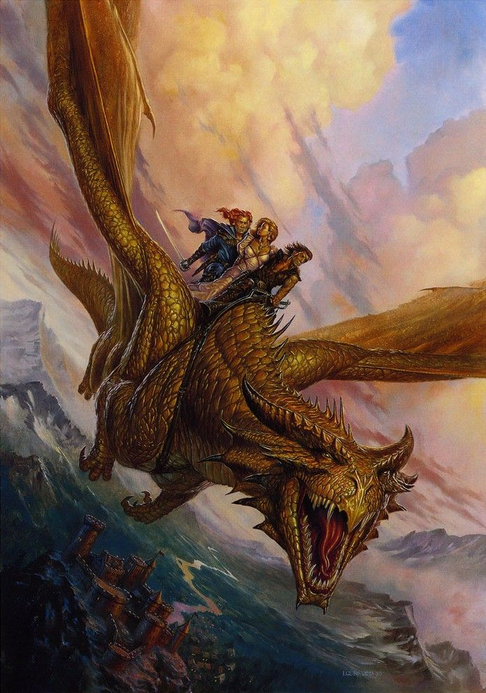 he and his partner were falling down a seemingly endless pit and then out of nowhere a massive dragon nobody knew about came out of the bottom and he now wants to ride it.  page 130-131