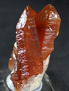 Gemmy red Quartz crystals Morocco   Mineral by BandLMinerals www.BandLMinerals.com www.etsy.com/shop/BandLMinerals www.Mineral-Auctions.com