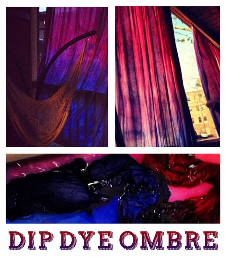 Don't spend a fortune buying curtains when you can make them yourself at home! Create awesome dip dye ombré curtains by following these super easy instructions.