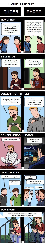 Los videojuegos antes y ahora