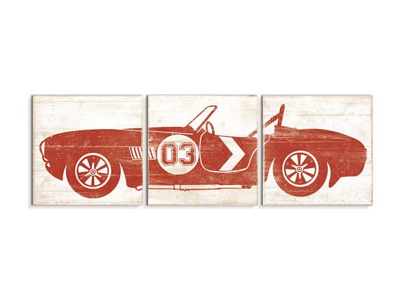 Our classic car wall art is the perfect wall art for race car bedroom decor. It is also perfect for a baby boy race car themed nursery. You can customize the number on this race car art to make it even more unique! With over 5000 sales and 100% positive feedback you can feel confident