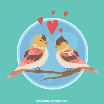 Coppie romantiche di uccelli