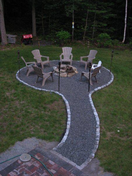 A fire pit idea...Path to pit