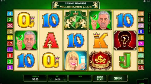 Play an exclusive game: Casino Rewards Millionaires Club