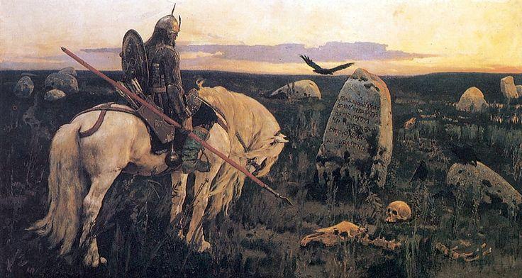 Витязь на распутье - Васнецов, Виктор Михайлович, картина в высоком разрешении