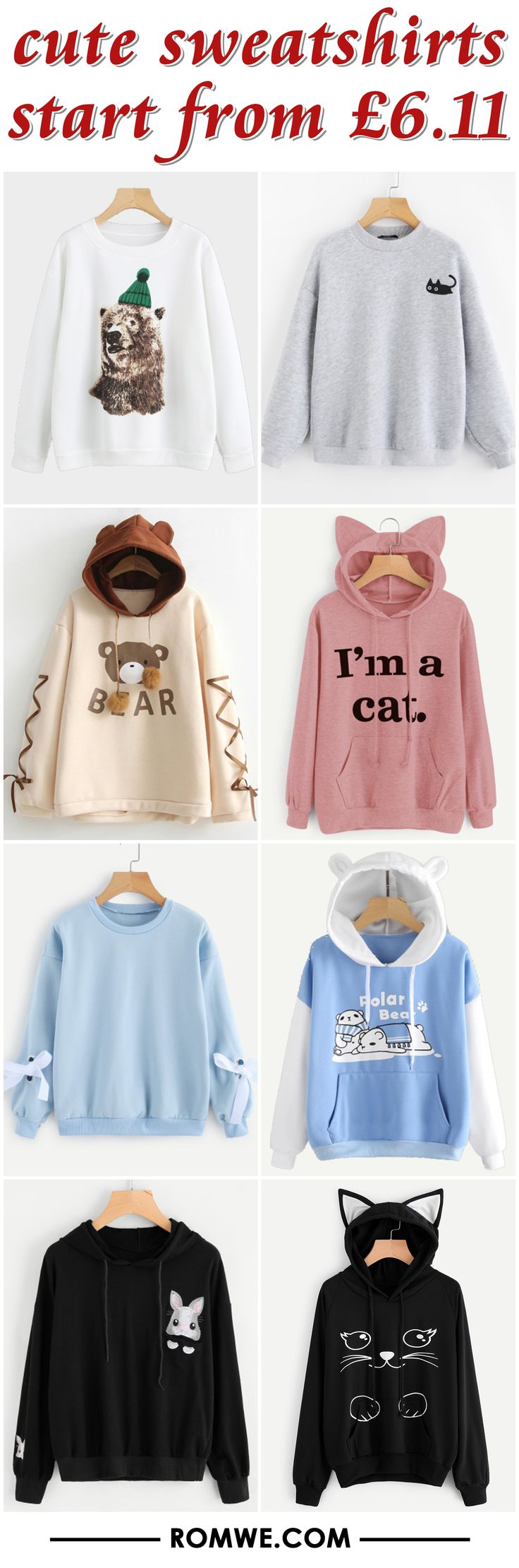 cute sweatshirts from £6.11