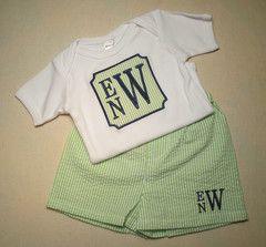 Baby Boy Monogram Set   Smarty Pants