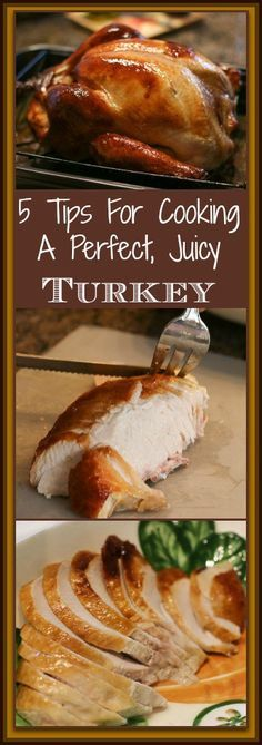 Just 5?  As long as my turkey looks that good coming out of the oven! 5 Tips for Cooking a Perfect, Juicy Turkey