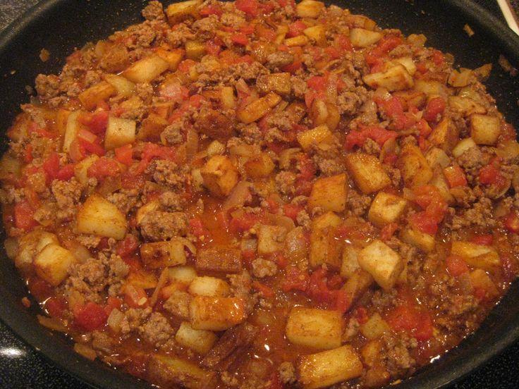 Beef and Potato Burritos, I am doing this tonight with ground turkey.