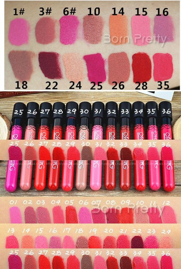 $2.29 12 Colors Lip Gloss Waterproof Matte Velvet Long Lasting Lip Pencils 1Pc - BornPrettyStore.com