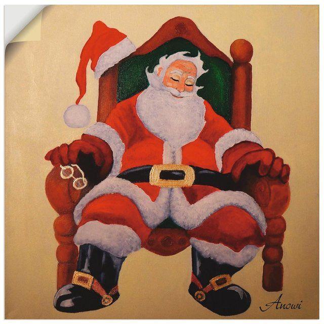 Premium Wandfolie »Anowi: Schlafender Weihnachtsmann«