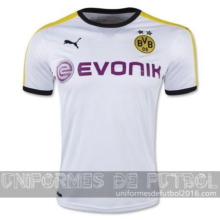 Venta de Jersey tercera para uniforme del Tailandia Borussia Dortmund 2015-16
