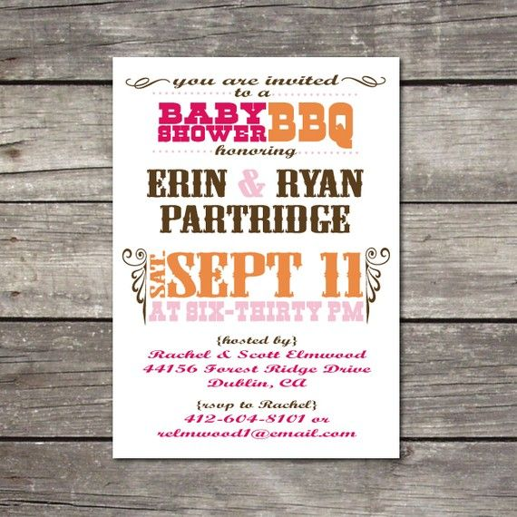 handmade baby shower bbq invitations printable bbqthemed baby shower birthday party
