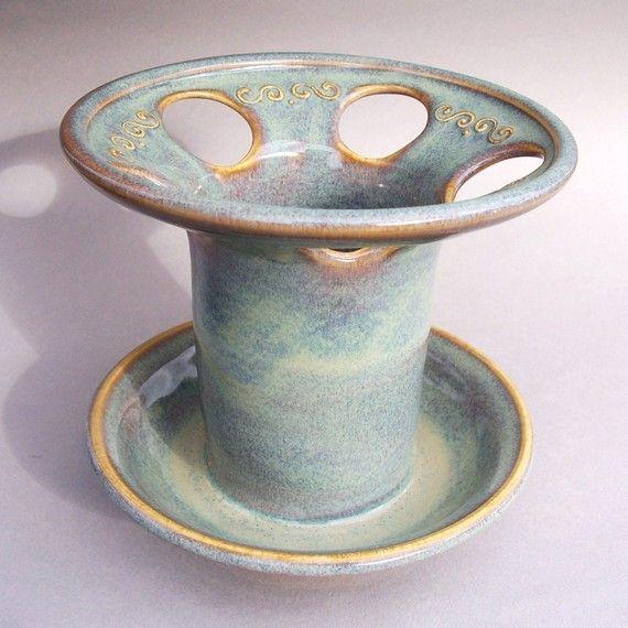 Handmade pottery Toothbrush Holder $22