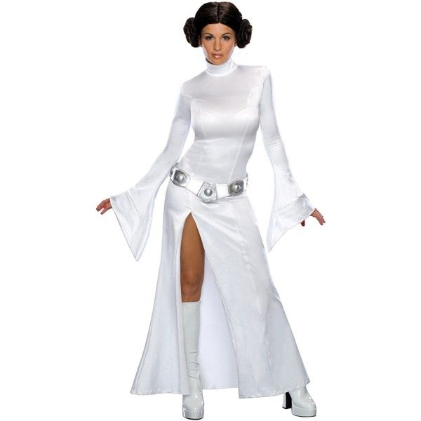 Star Wars Sexy Princess Leia Adult Costume (33 CAD) ❤ liked on Polyvore featuring costumes, halloween costumes, sexy star wars costumes, sexy princess leia costume, leia costume, adult halloween costumes and adult costume