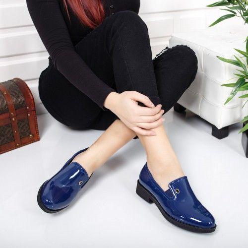 Pantofi dama Annina albastri casual
