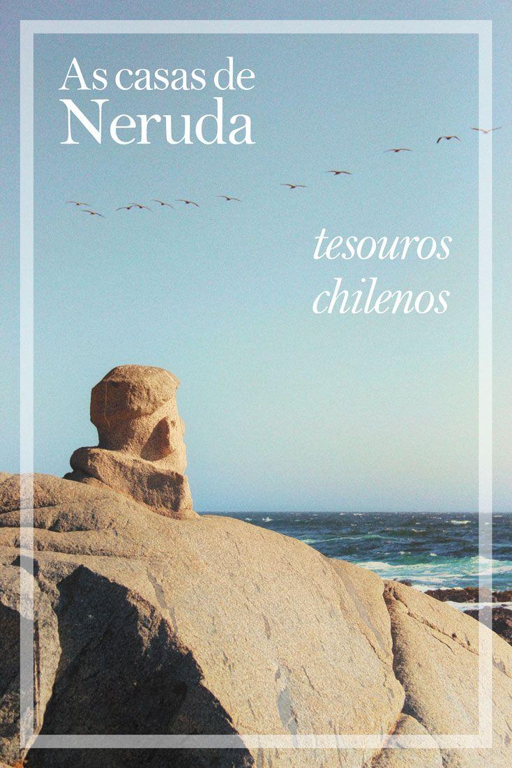 Visitar as 3 casas-museu de Pablo Neruda no Chile  (La Chascona, Sebastiana e Isla Negra) é um desses programas imperdíveis para fazer! Todas as casas são peculiares e contam com uma vista incrível :)