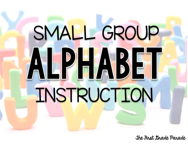 Small Group Alphabet Instruction -really helpful for those low babies!