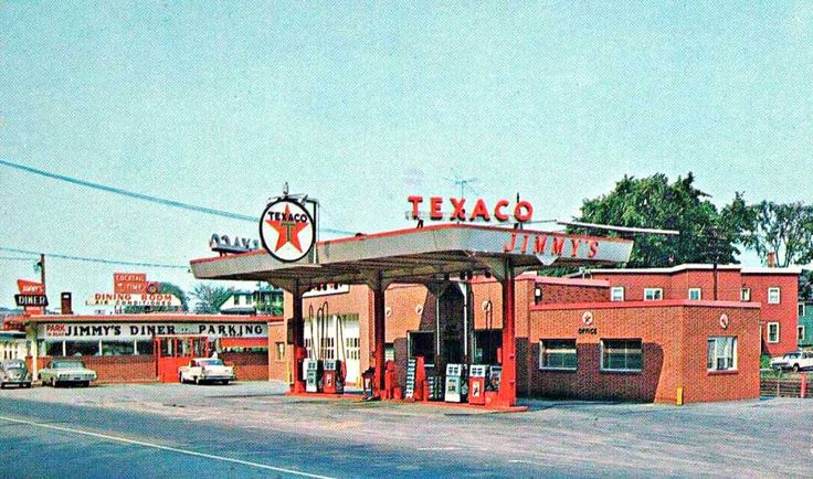 Jimmys Texaco and Jimmys Diner Early 1960s