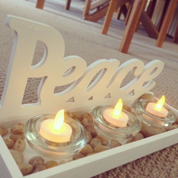 #rejectshop Peace tealight holder.