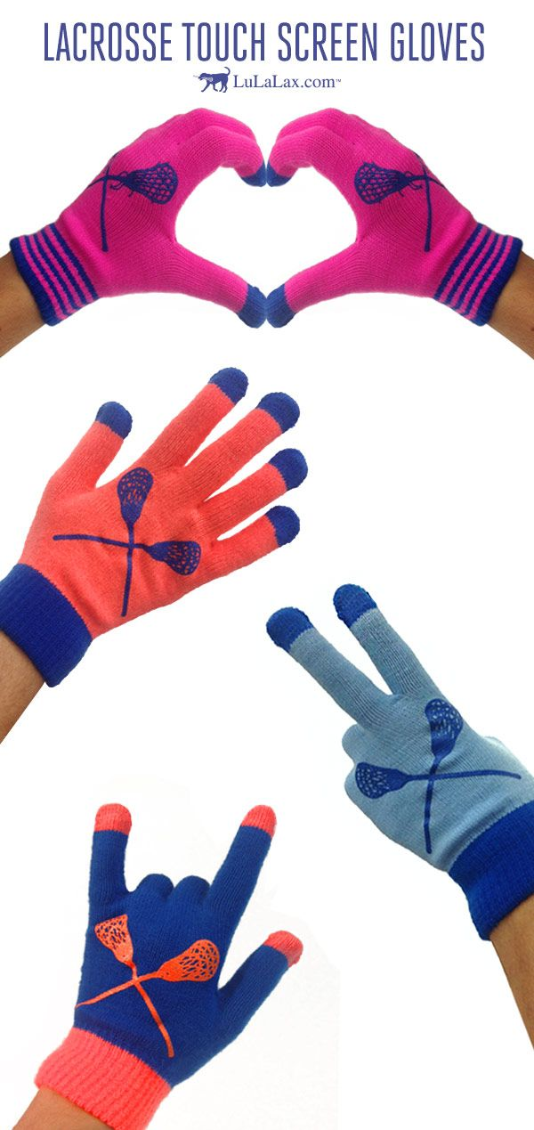 Any laxer with a touch screen phone will love these Lacrosse Touch Screen  Gloves! Our