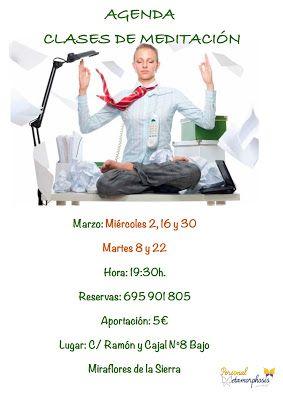 PERSONAL METAMORPHOSIS: CLASES DE MEDITACIÓN MARZO