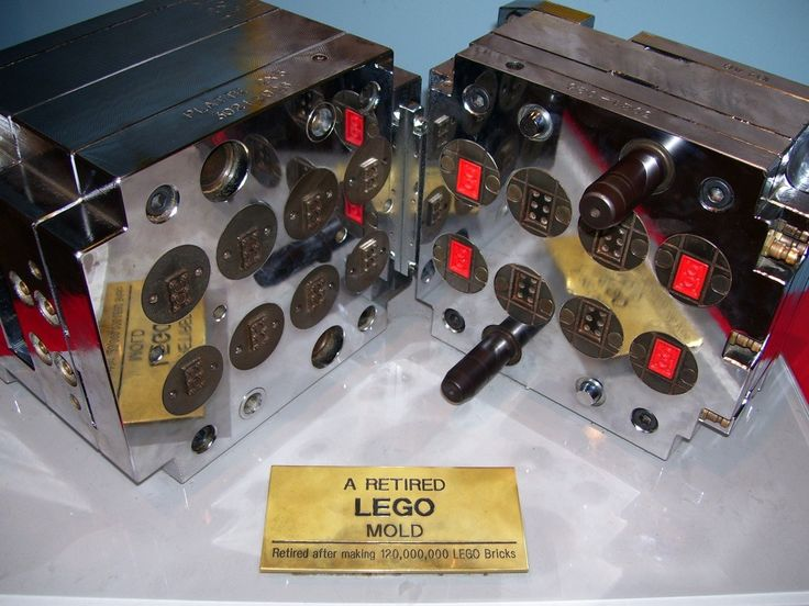 A LEGO mold, retired after making 120,000,000 LEGO bricks.