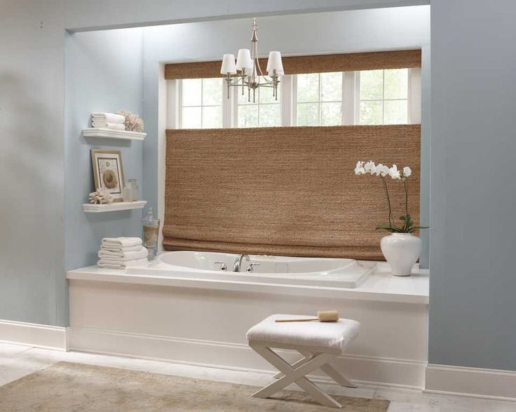 17 best images about bathroom window covering ideas on - Best window treatments for bathrooms ...