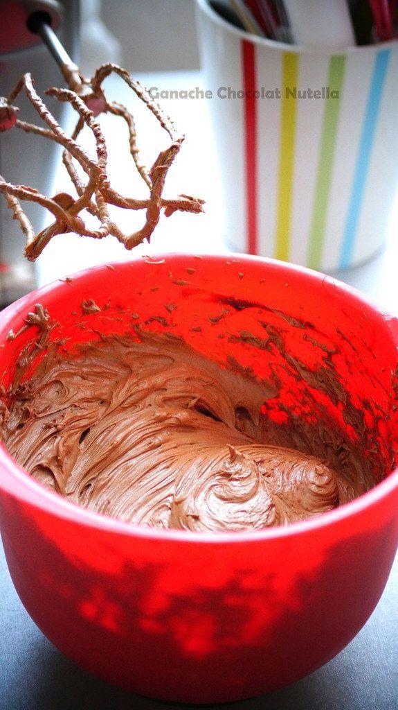 Ganache montée au Nutella pour gâteaux & cupcakes