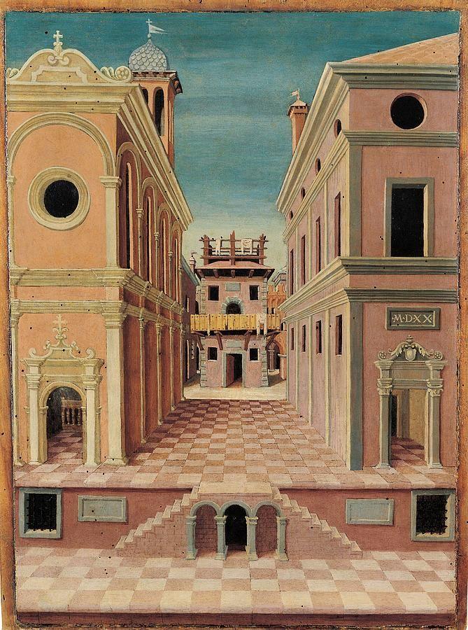 Sebstiano Serlio Cityscape | Sebastiano Serlio | Art ...