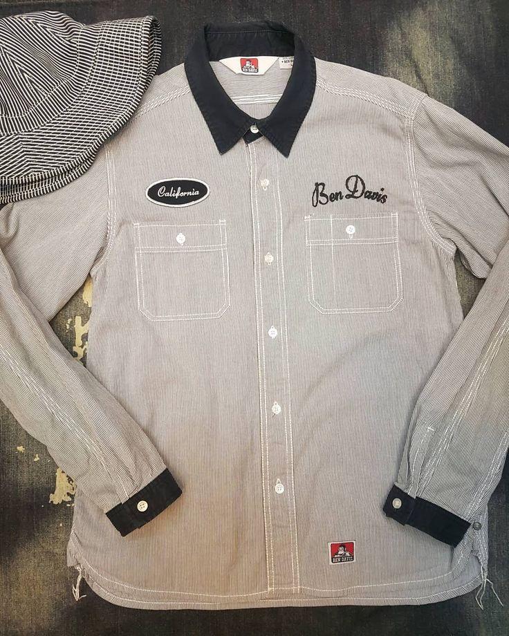 "228 Likes, 2 Comments - suitcase 슈트케이스 (@suitcase_vtg) on Instagram: ""📌BEN DAVIS Hickory Shirt 탄탄한 히코리원단의 워크셔츠 가슴52 총장65 컨디션우수💯💯"""