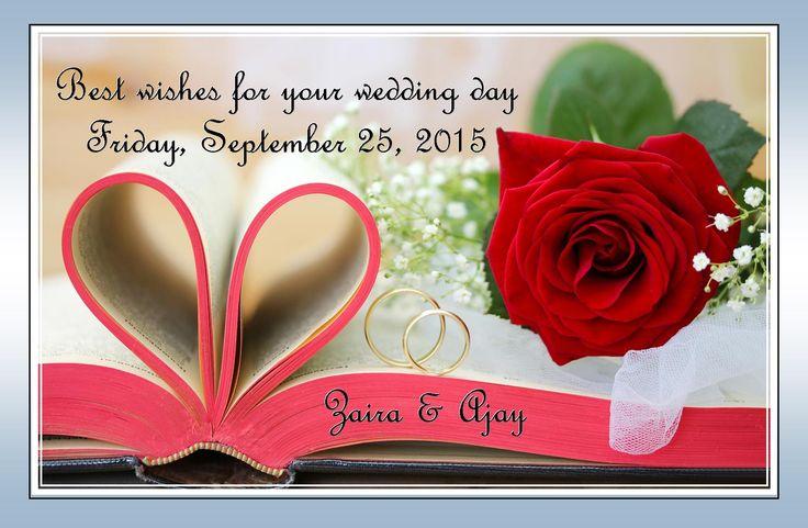 Ajay and Zaira wedding wish.