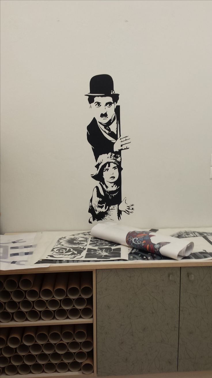 Charlie Chaplin The Kid - Αυτοκόλλητο τοίχου by BolBogon #fantastick #wallart #onyourwall #sticker #αυτοκολλητατοιχου #home #interior #decoration #deco #design