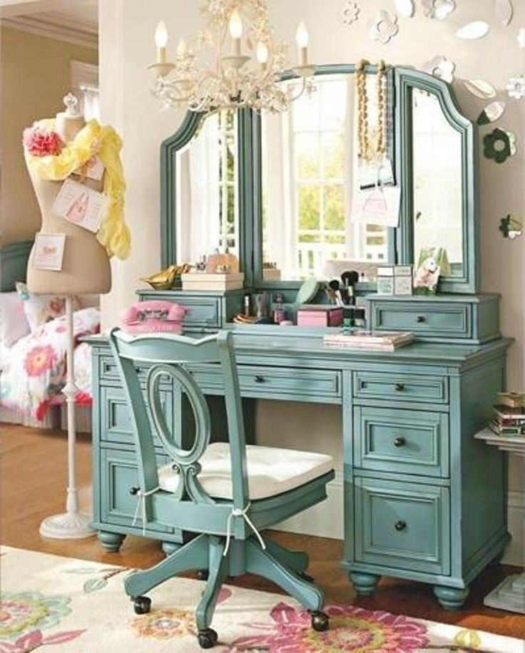 Sweet Bedroom Vanity With Mirror Glamorous