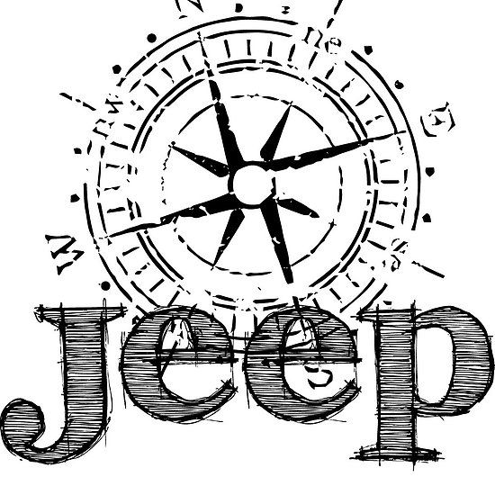 Jeep compass sticker available @ redbubble.com/jeepstyletees