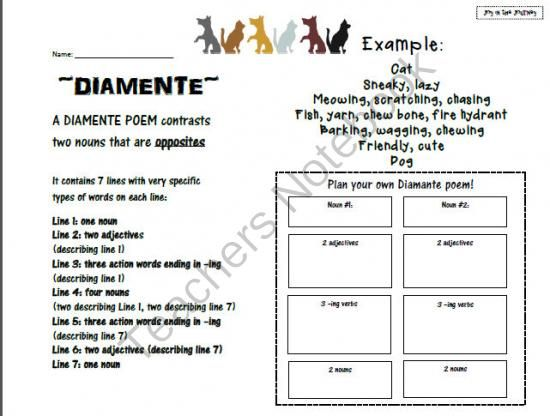 Best 25+ Diamante poem examples ideas on Pinterest